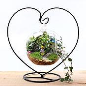 """Материалы для творчества ручной работы. Ярмарка Мастеров - ручная работа Подставка-основа """"сердце""""  для стеклянной вазы, мини-садика. Handmade."""