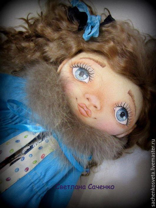 Коллекционные куклы ручной работы. Ярмарка Мастеров - ручная работа. Купить Катюшка. Handmade. Бирюзовый, купить подарок дочке