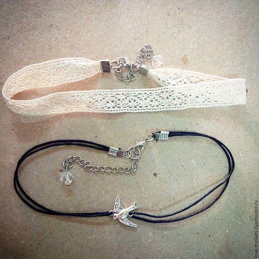 Плотно облегающее шею ожерелье. Кружево возможно в черном цвете.  Стоимость чокера без кулона - 200р. С кулоном 250р.