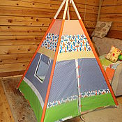 "Для дома и интерьера handmade. Livemaster - original item Wigwam for children ""Airplanes "". Handmade."