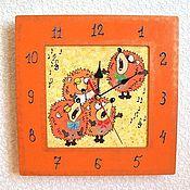 Для дома и интерьера handmade. Livemaster - original item Hedgehogs wall clock, clock, handmade, baby. Handmade.