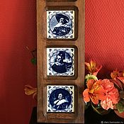 Vintage interior handmade. Livemaster - original item Decorative wall decoration Delft (the Netherlands). Handmade.