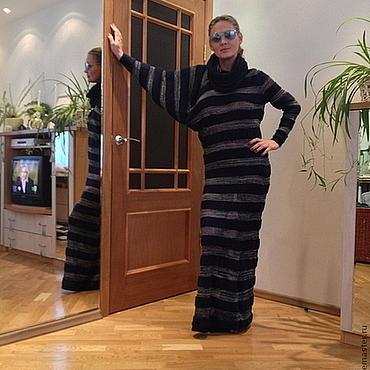 """Одежда ручной работы. Ярмарка Мастеров - ручная работа Платье вязаное """"Ассиметрия"""". Handmade."""