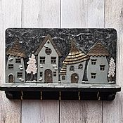 Для дома и интерьера handmade. Livemaster - original item Wall-mounted housekeepers:Housekeeper Night City 5.Wall-mounted housekeeper.. Handmade.