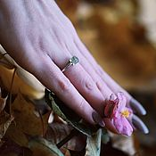 Винтаж handmade. Livemaster - original item Ring with chrysolite 925 silver. Handmade.