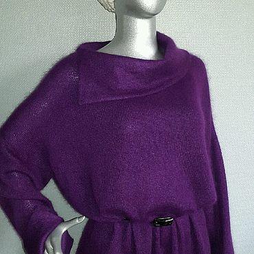 """Одежда ручной работы. Ярмарка Мастеров - ручная работа Туника """"Пурпур"""" 70% суперкидмохер 30% нейлон. Handmade."""
