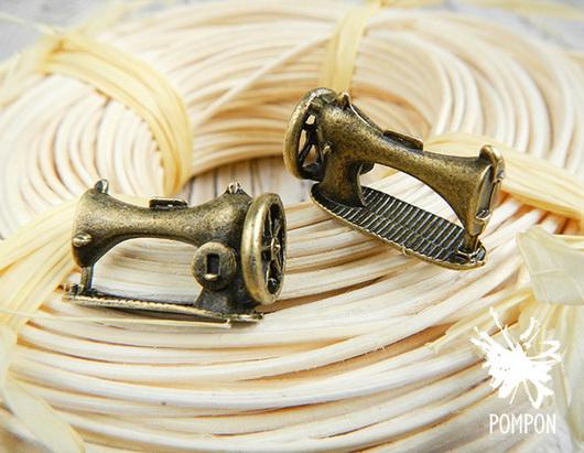 """Для украшений ручной работы. Ярмарка Мастеров - ручная работа. Купить Подвеска """"Швейная машинка"""" (П0084). Handmade. Подвеска"""