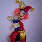 Петрушка. Перчаточная кукла для театрального представления.