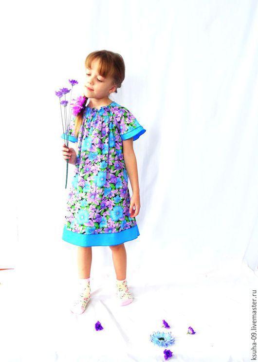 Одежда для девочек, ручной работы. Ярмарка Мастеров - ручная работа. Купить Платье для девочки Голубая лагуна. Предложите свою цену.. Handmade.