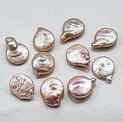 Материалы для творчества handmade. Livemaster - original item 2749_10 Pearl coin 12x17мм Ashes of Roses Pink pearl drop flat. Handmade.