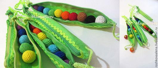 """Развивающие игрушки ручной работы. Ярмарка Мастеров - ручная работа. Купить Развивающая игрушка """"Горошек""""-2. Handmade. Разноцветный, горошек"""