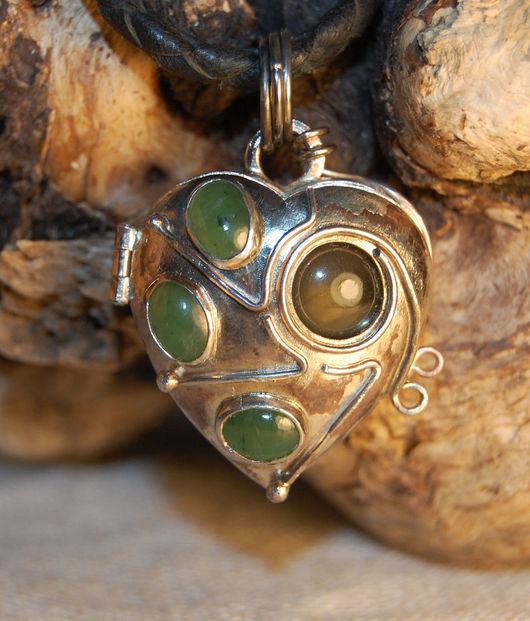 Открывающийся медальон для фото в форме сердца