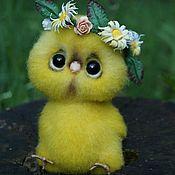 Куклы и игрушки ручной работы. Ярмарка Мастеров - ручная работа Войлочная игрушка Цыплёнок. Handmade.