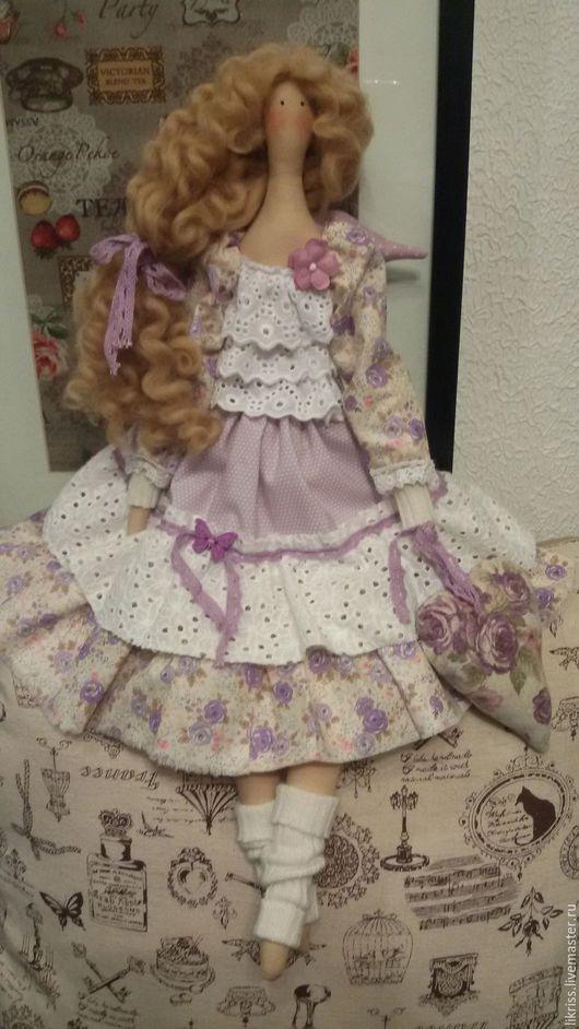 Куклы Тильды ручной работы. Ярмарка Мастеров - ручная работа. Купить Тильда. Handmade. Сиреневый, текстильная кукла, хлопок 100%