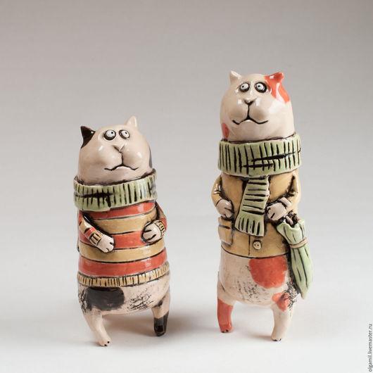Куклы и игрушки ручной работы. Ярмарка Мастеров - ручная работа. Купить Коты пятнистые). Handmade. Рыжий, зонт, полосатый, интерьер