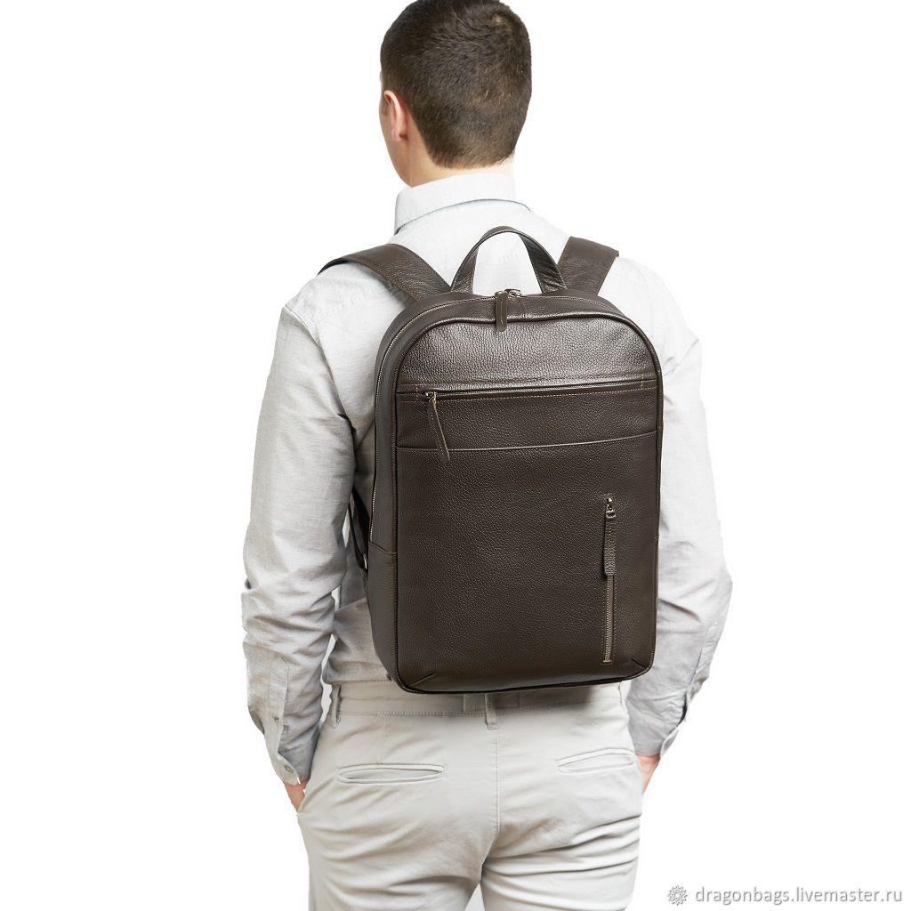 Men's leather backpack 'Marko' (Brown), Backpacks, Yaroslavl,  Фото №1