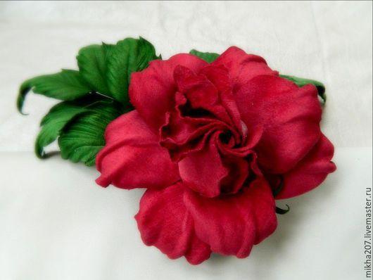 """Цветы ручной работы. Ярмарка Мастеров - ручная работа. Купить Роза из бархата """"Vogue"""".. Handmade. Бордовый, роза-брошь"""