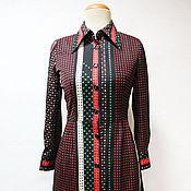 Одежда винтажная ручной работы. Ярмарка Мастеров - ручная работа Платье Tokyo ACYAMA 70-е годы. Handmade.