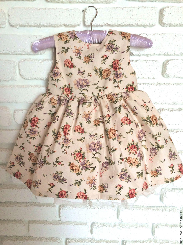 Платье для девочки из хлопка сшить