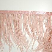 handmade. Livemaster - original item Trim of ostrich feathers 10-15 cm light pink. Handmade.