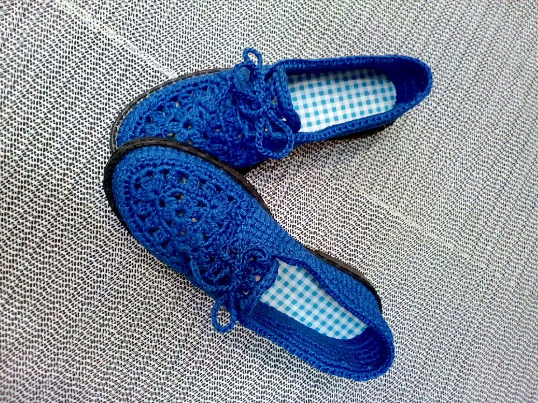 Вязаная обувь на подошве своими руками