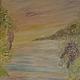 Декор поверхностей ручной работы. Морской пейзаж-фреска в зале.. студия Преображение (Jenny555). Ярмарка Мастеров. Роспись стен и мебели