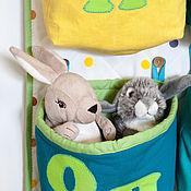 Для дома и интерьера ручной работы. Ярмарка Мастеров - ручная работа Кармашки в детскую Алфавит 2, органайзер для игрушек с корзинками. Handmade.