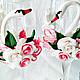 """Свадебные аксессуары ручной работы. Ярмарка Мастеров - ручная работа. Купить Бокалы""""Танец белых лебедей"""". Handmade. Белый, нежность"""