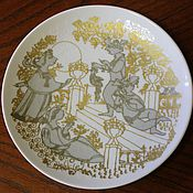 Винтаж handmade. Livemaster - original item Collectible plate