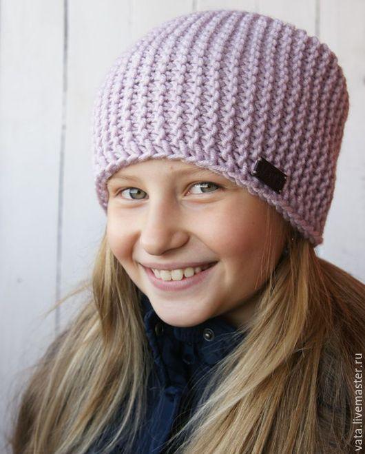 вязаная шапка бини, вязаная шапка, шапка ручной вязки, шапка спицами, шапка из толстой пряжи, шапка купить, шапка на осень, шапка крупной вязки