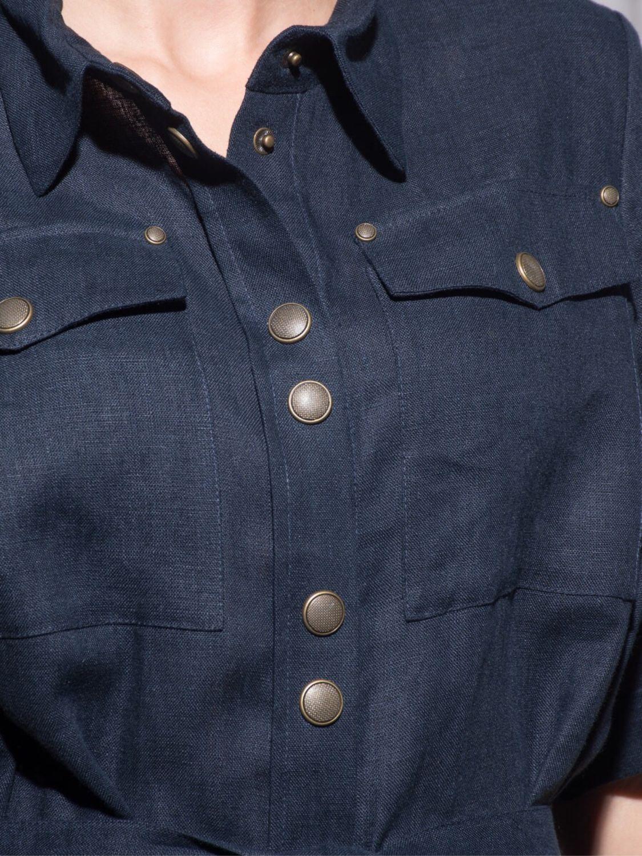 a06bbcf1944 Платье-рубашка из итальянского льна – купить в интернет-магазине на ...
