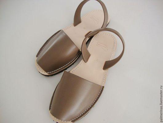 Обувь ручной работы. Ярмарка Мастеров - ручная работа. Купить Мужские сандалии из кожи. Handmade. Серый, мужские сандалии