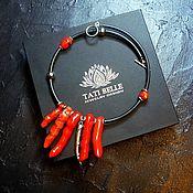 Украшения handmade. Livemaster - original item A necklace of coral