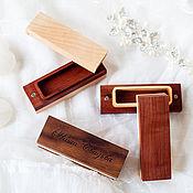 Для дома и интерьера ручной работы. Ярмарка Мастеров - ручная работа Шкатулка для флешки, тройная. Handmade.