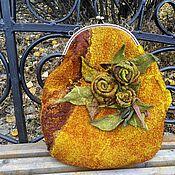 Сумки и аксессуары handmade. Livemaster - original item Handbag felted Saffron autumn. Handmade.