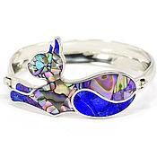 Украшения handmade. Livemaster - original item Bracelet Cat. Bracelet with lapis Lazuli, Turquoise, Charoite and mother of Pearl. Handmade.