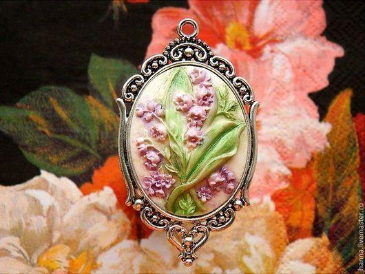 """Кулоны, подвески ручной работы. Ярмарка Мастеров - ручная работа. Купить Камея-подвеска """"Маранта"""". Handmade. Камея, подвеска цветы"""