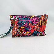 Сумки и аксессуары handmade. Livemaster - original item Bag bright Hawaii,fuchsia,pink,ethnic style,lilac,clutch bag crimson. Handmade.