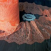Материалы для творчества ручной работы. Ярмарка Мастеров - ручная работа Цена за 3,2м Кружево реснички 142 кружево с ресничками, шантильи. Handmade.