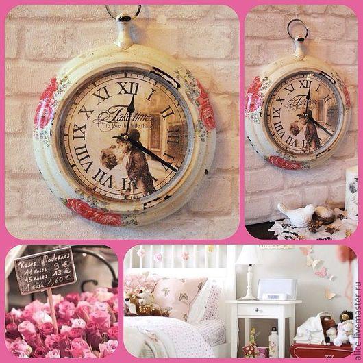 """Часы для дома ручной работы. Ярмарка Мастеров - ручная работа. Купить """"Время поцелуев..."""" часы. Handmade. Чёрно-белый"""