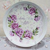 """Посуда ручной работы. Ярмарка Мастеров - ручная работа Тарелка """"Нежные розы"""". Handmade."""