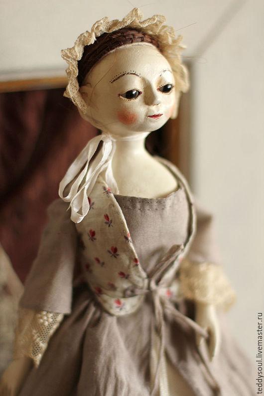 Коллекционные куклы ручной работы. Ярмарка Мастеров - ручная работа. Купить Мадлен I, деревянная кукла времен Королевы Анны. Handmade.