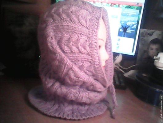 Шарфы и шарфики ручной работы. Ярмарка Мастеров - ручная работа. Купить шарф-капюшон. Handmade. Сиреневый, теплый подарок