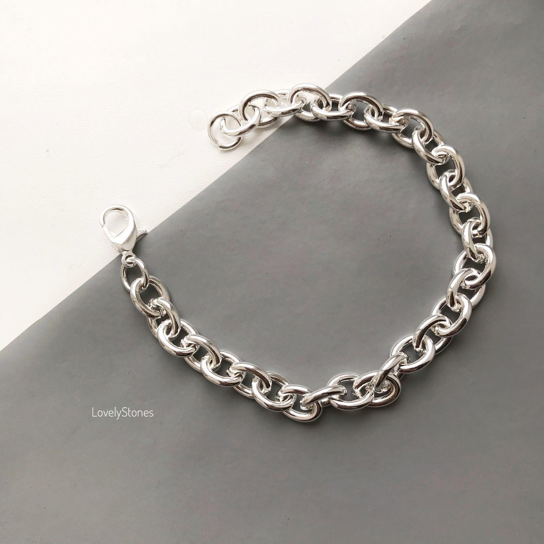 Chain bracelet with large links casual stylish, Chain bracelet, Yaroslavl,  Фото №1
