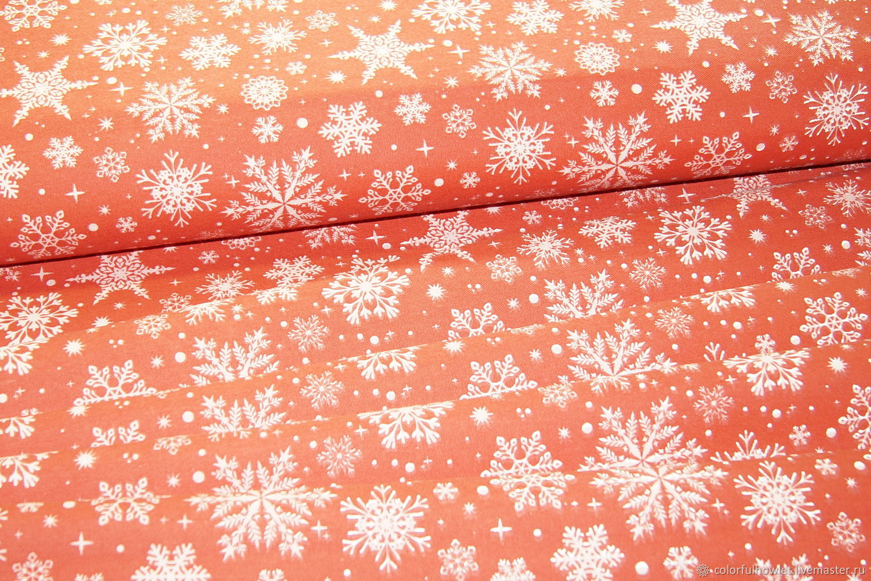 Новогодняя  ткань 100% хлопок для шитья саржа декоративная, Ткани, Иваново,  Фото №1