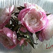 Цветы и флористика ручной работы. Ярмарка Мастеров - ручная работа Пион интерьерный розовый (шелк). Handmade.