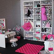 Куклы и игрушки ручной работы. Ярмарка Мастеров - ручная работа Гардеробная комната для кукол Monster High и др.. Handmade.