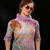 Одежда ручной работы. Ярмарка Мастеров - ручная работа Свитер валяный. На  ветру.... Handmade.