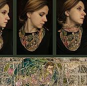"""Украшения ручной работы. Ярмарка Мастеров - ручная работа """"The Sleeping Princess"""" колье и шарф. Handmade."""