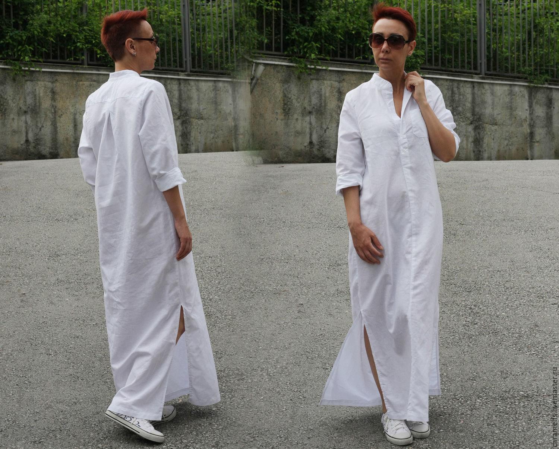e70adfe6147 Платья ручной работы. Ярмарка Мастеров - ручная работа. Купить Длинные  рубашки из льна ...